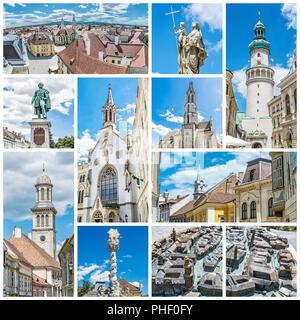 Das Beste von Sopron Stadt in Ungarn, Europa. Collage der Bilder. - Stockfoto