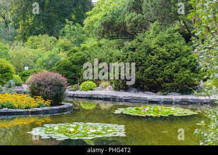 Krakau Polen 13 August 2018 Botanischer Garten Der Jagiellonen Universitat Stockfotografie Alamy