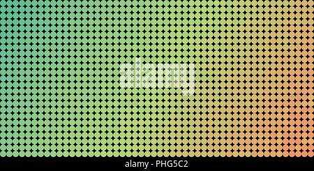 Vector Hintergrund aus einem Grün Orange gradient und aufgereiht Kreise ähnlich Pixel. - Stockfoto