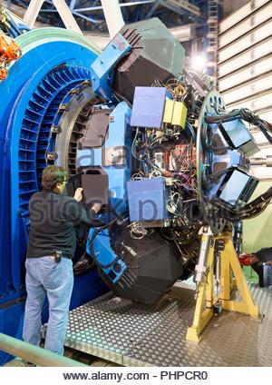 Astronom einstellen Maschinen auf Paranal Observatorium in Chile - Stockfoto