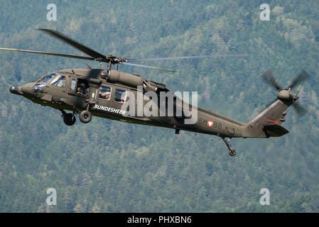 Eine Sikorsky S-70 Transporthubschrauber der österreichischen Luftwaffe. - Stockfoto