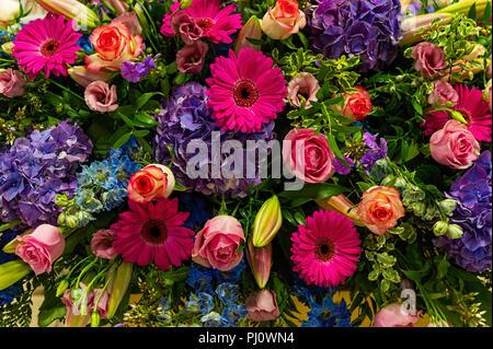 Große Blumenschmuck Stockfoto