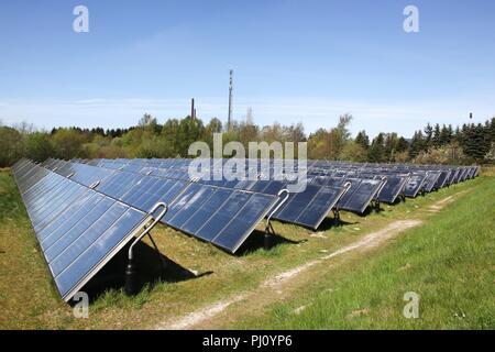 Gruppe von Solarthermie Panels in Dänemark - Stockfoto
