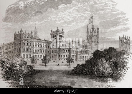 Das Auswärtige Amt von St. James's Park, London, England im 19. Jahrhundert. Von London Bilder, veröffentlicht 1890. - Stockfoto