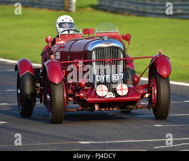 Richard Reay-Smith, Lagonda LG 45 Team Auto, Pre-Krieg Team Challenge, Aston Martin Owners Club Racing, Snetterton, Norfolk, England, Samstag 1.septemb - Stockfoto