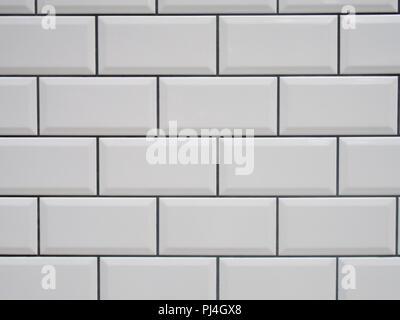 Muster Wand Mit Weißen Fugen Stockfoto Bild Alamy - Weiße fliesen schwarze fugen
