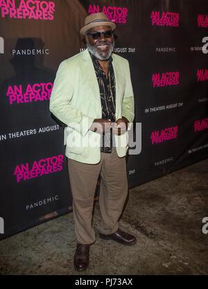 """New York, NY - August 29, 2018: fankie Faison besucht"""" Ein Schauspieler bereitet 'New York Siebung an Metrograph - Stockfoto"""