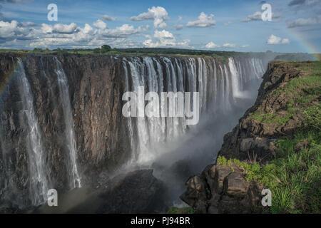 Die endlosen fällt, Victoria Falls, Simbabwe - Stockfoto