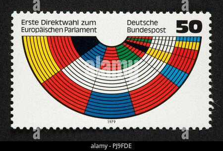 Deutsche Briefmarke - Stockfoto