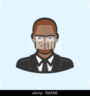 Civil Rights leader Malcolm X - Stockfoto