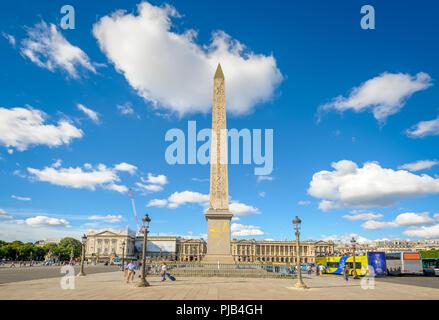 Luxor Obelisk in Place de la Concorde, Paris - Stockfoto