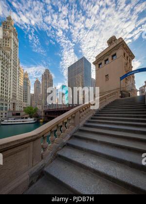 Chicago, eine Stadt im US-Bundesstaat Illinois, ist die bevölkerungsreichste Stadt der Vereinigten Staaten. - Stockfoto
