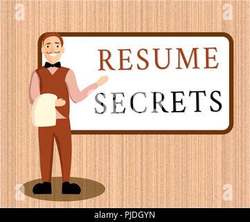 Wort Schreiben Text Lebenslauf Geheimnisse Business Konzept Für