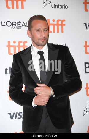 "Toronto, Ontario, Kanada. 6. Sep 2018. MATTHIAS SCHOENAERTS besucht die ""Kursk"" 2018 Premiere beim Toronto International Film Festival in der Princess of Wales Theater am 6. September 2018 in Toronto, Kanada Quelle: Igor Vidyashev/ZUMA Draht/Alamy leben Nachrichten - Stockfoto"