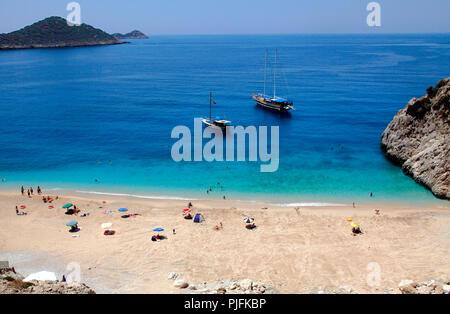 Die Türkei, in der Provinz von Antalya, Kaputas Strand zwischen Kalkan und Kas - Stockfoto