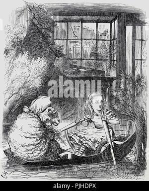 Vintage John tenniel Alice im Wunderland illusstrator original Artwork - Stockfoto