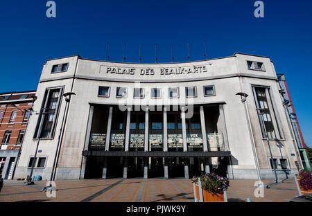 Die im Art déco-Stil Palais des Beaux-Arts in Charleroi (Belgien, 24/10/2011) - Stockfoto