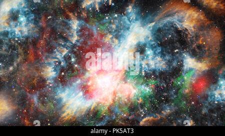 Sternen, Staub und Gas nebula in der Galaxie. Elemente dieses Bild von der NASA eingerichtet. Stockfoto