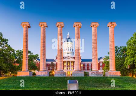 Columbia, Missouri, USA an der Universität von Missouri. - Stockfoto
