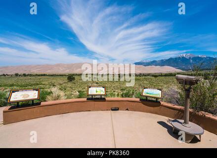 Great Sand dune National Park, Colorado, USA.: 06-09-17: Great Sand dune National park Schild am Eingang - Stockfoto