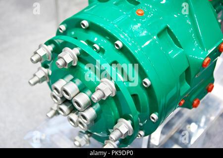 Radnabe und Bremse Trommel des Staplers - Stockfoto