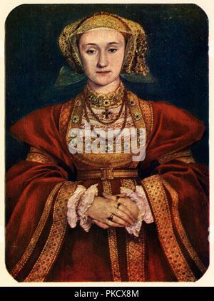 """""""Anna von Kleve"""", 1539, (1909). Künstler: Hans Holbein der Jüngere. - Stockfoto"""