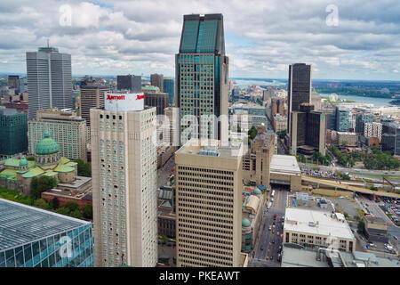 Montreal, Kanada, 12. September 2018. Luftaufnahme von Montreal Downtown Core. Credit: Mario Beauregard/Alamy leben Nachrichten - Stockfoto