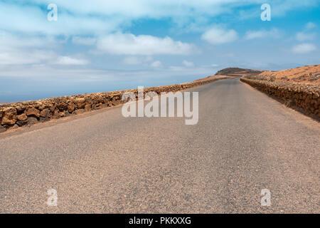 Blick auf den Mirador del Rio Road, Lanzarote - Stockfoto
