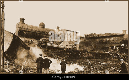 Quintinshill Troop Transport Zug Disaster 22. Mai 1915 - in der Nähe von Gretna Green in Neu-isenburg, Schottland. - Stockfoto