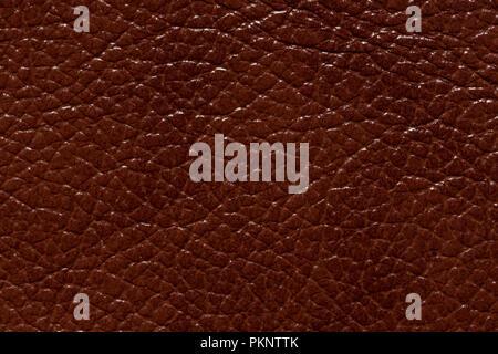 Glänzenden Kontrast aus braunem Leder Textur. Hochauflösendes Foto.
