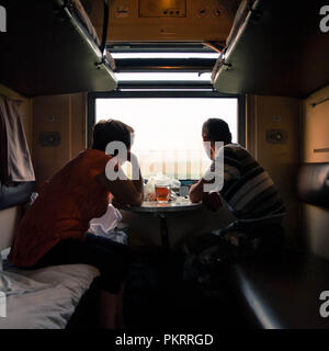 Russische Reisen mit der Bahn - Stockfoto