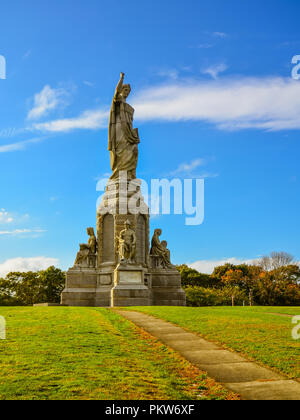 National Monument der Vorfahren -, Plymouth, MA - Stockfoto