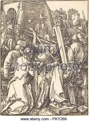 Christus das Kreuz tragen. Stand: 1509. Medium: Holzschnitt. Museum: Nationalgalerie, Washington DC. Thema: Dürer, Albrecht. ALBRECHT DÜRER. - Stockfoto