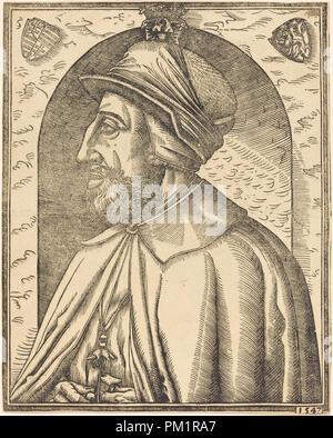 König Ferdinand von Österreich. Stand: 1547. Medium: Holzschnitt. Museum: Nationalgalerie, Washington DC. Thema: Französisch 16. Anonym. - Stockfoto