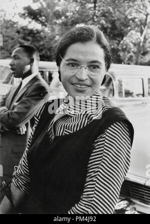 Rosa Parks mit Dr. Martin Luther King Jr. ca. 1955 Datei Referenz Nr. 1003_612 THA - Stockfoto