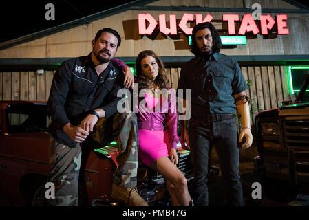 "Channing Tatum, Riley Keough, Adam,"" Logan Lucky"" (2017) Fingerabdruck freigeben - Stockfoto"