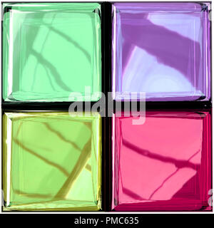 Farbiges Glas palette - Stockfoto