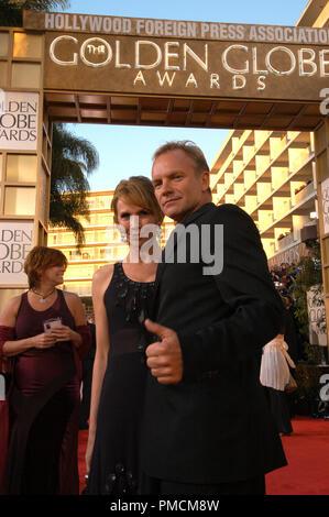 """Anreise auf der 61. jährlichen """"Golden Globe Awards"""" 01-25-2004 Sting und Frau Trudie Styler, gehalten im Beverly Hilton Hotel in Beverly Hills, CA. Datei Referenz Nr. 1079 111 PLX für redaktionelle Verwendung"""