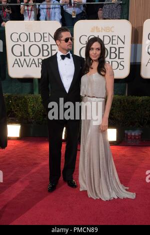"""Die Hollywood Foreign Press Association präsentiert """"Die Golden Globe Awards - 66th Jährliche' Angelina Jolie, Brad Pitt 1-11-2009 - Stockfoto"""