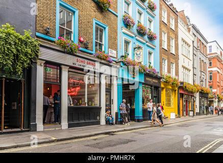Eine typische Ansicht in London - Stockfoto