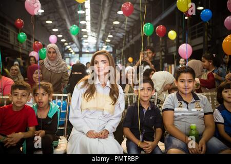Amman Jordanien 18 Sep 2018 Königin Rania Von Jordanien Besucht