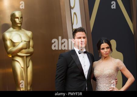 Channing Tatum und Jenna Dewan kommen für die Live ABC Telecast der 86 Oscars® auf der Dolby® Theater am 2. März 2014 in Hollywood, CA. Datei Referenz # 32268 099 Nur für den redaktionellen Gebrauch - Alle Rechte vorbehalten - Stockfoto