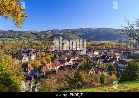 Frankreich, Correze, Tal der Dordogne, Beaulieu Sur Dordogne, allgemeine Ansicht // Frankreich, Corrèze (19), Vallée de la Dordogne, Beaulieu-sur-Dordogne, Vue géné - Stockfoto