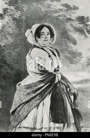 Die Herzogin von Kent und Strathearn, die Mutter von Königin Victoria von Großbritannien - Stockfoto