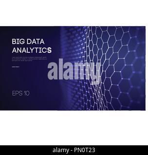 Große Daten. Business Intelligenz Technologie Hintergrund. Der binäre Code Algorithmen vertieftes Lernen Virtuelle Realität Analyse. Daten Wissenschaft lernen. Künstliche Intelligenz Daten Forschung und Automation - Stockfoto