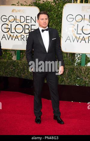 Channing Tatum kommt an der 73. jährlichen Golden Globe Awards im Beverly Hilton in Beverly Hills, CA am Sonntag, den 10. Januar 2016. - Stockfoto