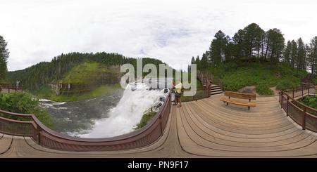 Obere Mesa fällt auf die Henrys Fork River - Stockfoto