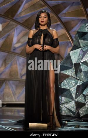 Taraji P. Henson präsentiert während der Live ABC Telecast der 90 Oscars® auf der Dolby® Theater in Hollywood, CA am Sonntag, den 4. März 2018. Datei Referenz # 33546 390 PLX nur für redaktionelle Verwendung - Alle Rechte vorbehalten