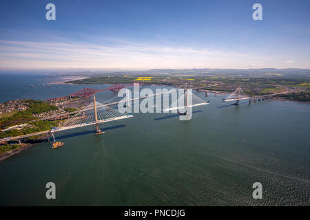 Brückenbau über die Firth-of-Forth, Schottland - Stockfoto