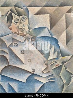 Portrait von Pablo Picasso. Datum/Zeitraum: von Januar 1912 bis Februar 1912. Malerei. Öl auf Leinwand Öl auf Leinwand. Höhe: 933 mm (36.73 in); Breite: 744 mm (29.29 in). Autor: Juan Gris. - Stockfoto